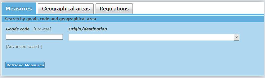TARIC Database Link